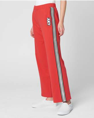 Juicy Couture JXJC 3D Juicy Terry Wide Leg Track Pant