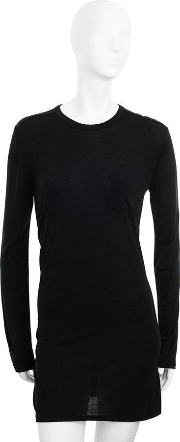 T by Alexander Wang Classic Long Sleeve Dress - Black