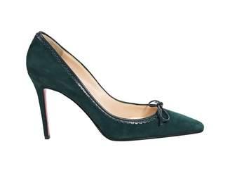 Christian Louboutin Green Suede Heels