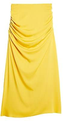 Theory Women's Twisted Stretch-Silk Midi Skirt