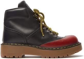 Prada Bi-colour leather après-ski boots