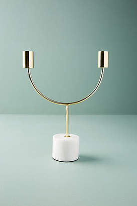 Anthropologie Marble Double Candelabra