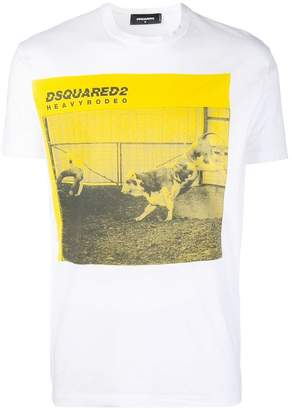 DSQUARED2 Heavy Rodeo print T-shirt