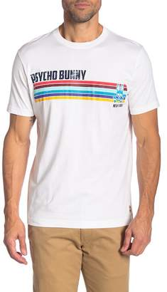 Psycho Bunny Colorblock Stripe Graphic Tee