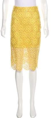 Alexis Larissa Floral Lace Pencil Skirt