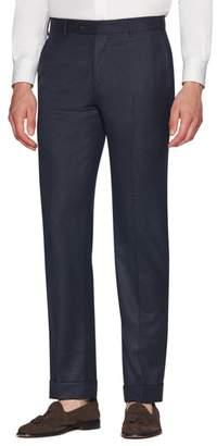Zanella Parker Flat Front Wool Flannel Trousers