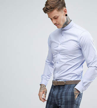 Heart & Dagger skinny shirt with penny collar