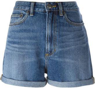 Marc By Marc Jacobs sequin cherry denim shorts $255.04 thestylecure.com