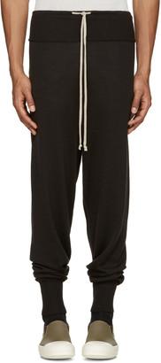 Rick Owens Black Wool Lounge Pants $660 thestylecure.com