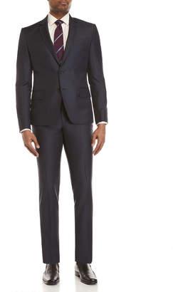 Roberto Cavalli Two-Piece Navy Blue Slim Fit Suit