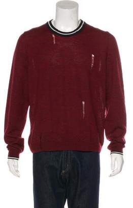 Lanvin Distressed Wool Sweater