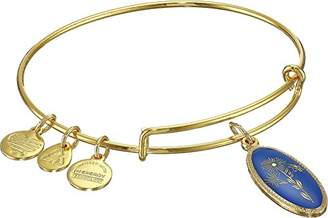 Alex and Ani Star of Mystery Aster Gold-Tone Expandable Wire Bangle Bracelet