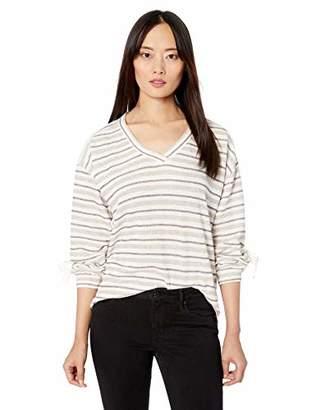 Democracy Women's Vneck Sweatshirt with Lace Up Hem