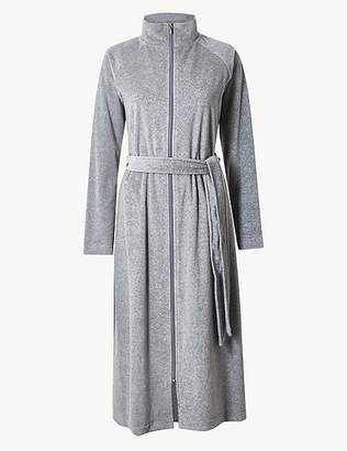 Marks and Spencer Velour Zipped Through Dressing Gown fb2724b08