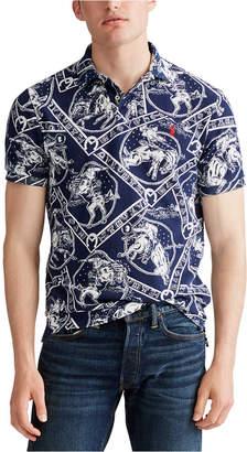 Polo Ralph Lauren Men Classic Fit Western-Print Mesh Polo Shirt