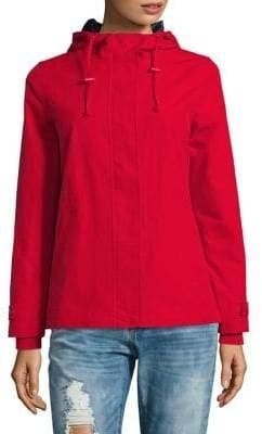 Weatherproof Long-Sleeve Hooded Jacket