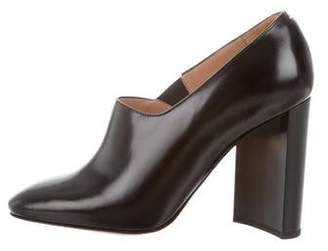 Maison Margiela Round-Toe Leather Booties w/ Tags