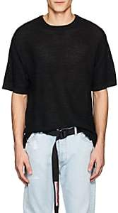 Saturdays NYC Men's Pacho Birdseye-Knit Cotton-Blend T-Shirt-Black