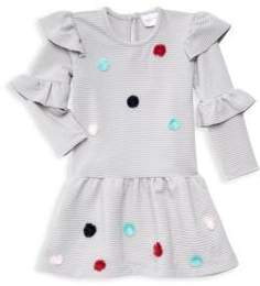 Baby Girl's Pom Pom Frill Fit-&-Flare Dress