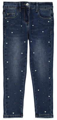 Bell George Mid Wash Denim Embellished Skinny Jeans