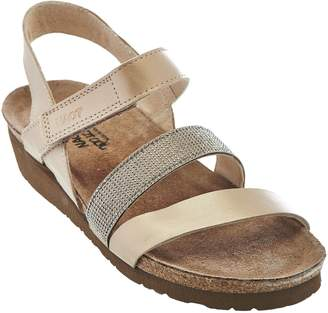 Naot Footwear Leather Cross-strap Sandals with Rivets - Krista