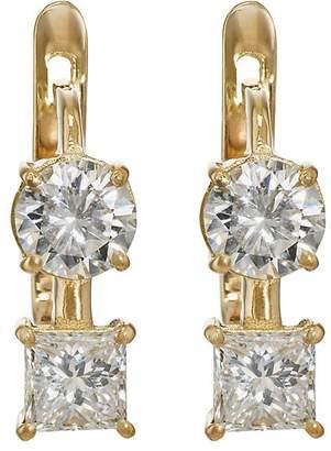 Ileana Makri Women's White Diamond Drop Earrings