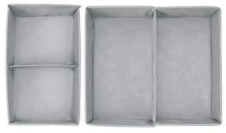 InterDesign Aldo Drawer Organizer, 4S (Set of 2), Large, Grey
