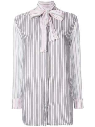 J.W.Anderson striped bow tie shirt