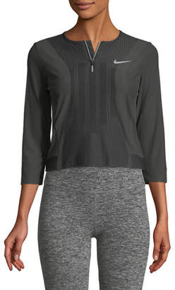 Nike Slam 3/4-Sleeve Quarter-Zip Performance Top