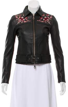 Rebecca Minkoff Embroidered Leather Jacket w/ Tags