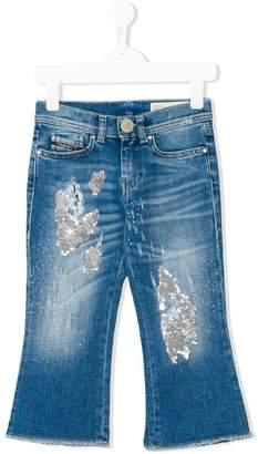 Diesel distressed effect jeans