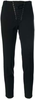 The Kooples front lace-up cropped trousers