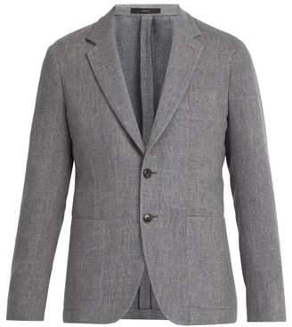 Paul Smith Single Breasted Stretch Wool Blazer - Mens - Grey
