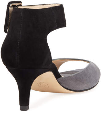 Pelle Moda Berlin Low-Heel Dressy Suede Sandals