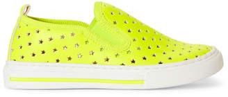 Stella McCartney Toddler/Kids Girls) Neon Green Perforated Star Slip-On Sneakers