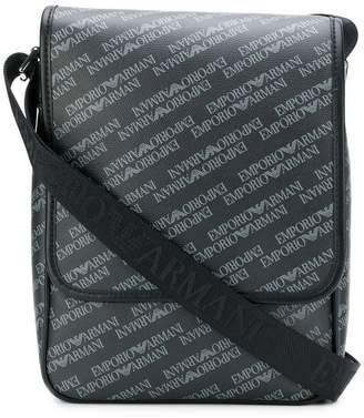 Emporio Armani printed logo messenger bag