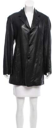 Donna Karan Leather Short Jacket