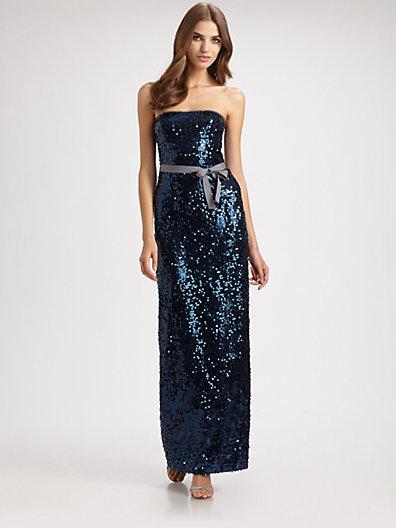 BCBGMAXAZRIA Lela Sequined Gown