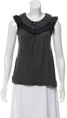 Marc by Marc Jacobs Pleat-Accented Sleeveless Top