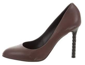 Bottega Veneta Leather Round-Toe Pumps
