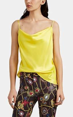 L'Agence Women's Kay Silk Satin Cowlneck Cami - Yellow