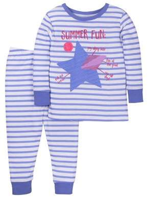Little Star Organic Baby Toddler Girl Snug Fit Pajamas, 2pc Set