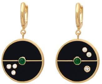 Retrouvaí Compass Earrings - Black Onyx