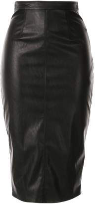 Elisabetta Franchi leather look midi skirt