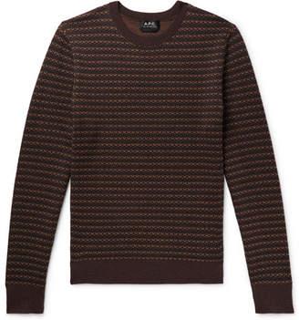 A.P.C. Slim-Fit Striped Merino Wool-Jacquard Sweater
