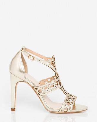 Le Château Metallic Leather-Like T-Strap Sandal