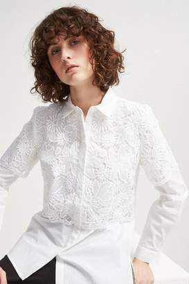 French Connection Southside Mix Lace Shirt
