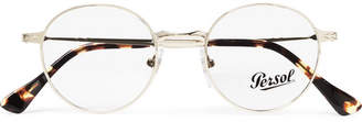 Persol Round-Frame Gold-Tone And Tortoiseshell Acetate Optical Glasses