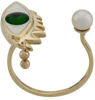 Delfina Delettrez 9kt yellow gold Eye Piercing ring