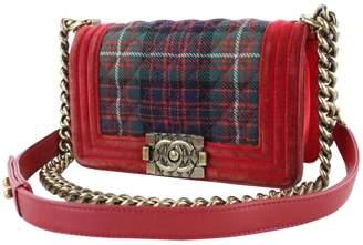 Chanel Boy wool crossbody bag